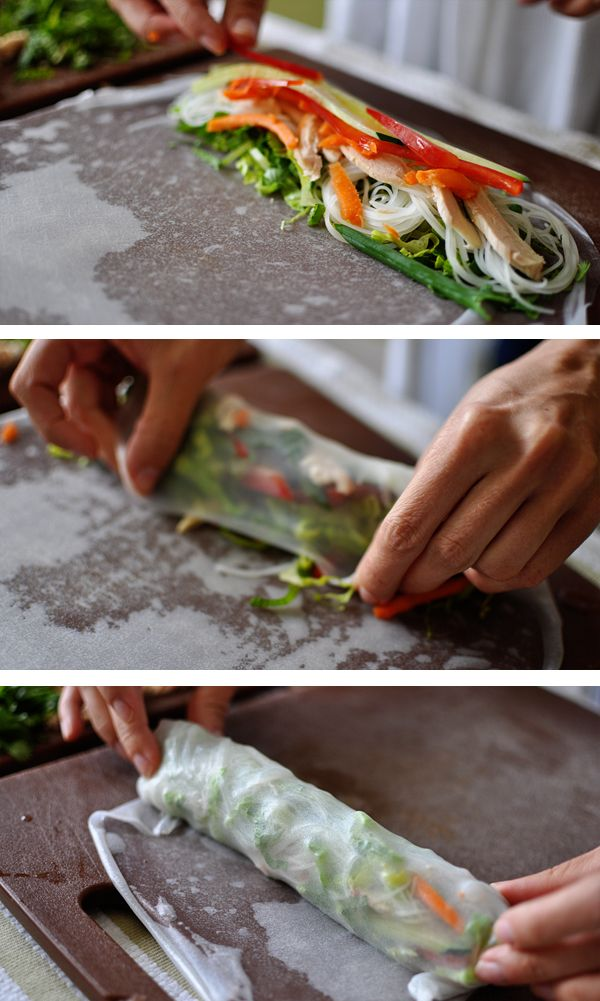 Copycat Pei  Wei Vietnamese Chicken Salad Spring Rolls... Omg my Fave, I Can Now Die Happy