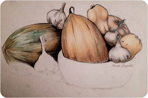 #vegetables #drawing #art #painting #fruits #kitchen #noemisparkle #realistic #youtube #crayons #pencil #prismacolor #howto