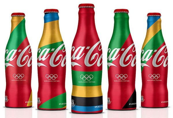 Coca-Cola packaging design for London 2012 Olympics.