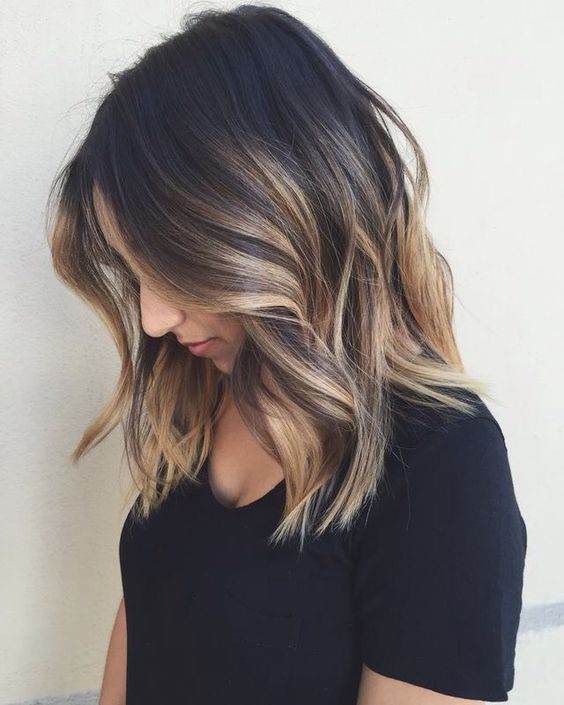 Blonde Balayage on Medium Brown Hair