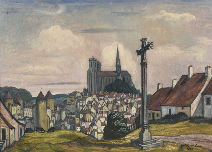 André Maire (1898-1984) | Vue de Semur-en-Auxois I Daguerre
