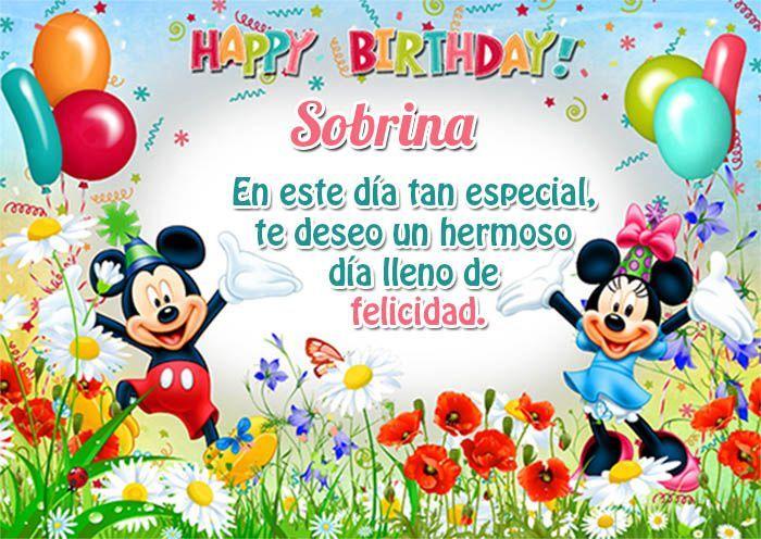 Felicitar a una Sobrina por su Cumpleaños con Mensajes Lindos   Tarjetas de Feliz Cumpleaños