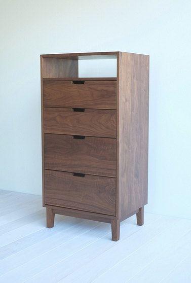Walnut Dresser by hedgehouse on Etsy (widened)