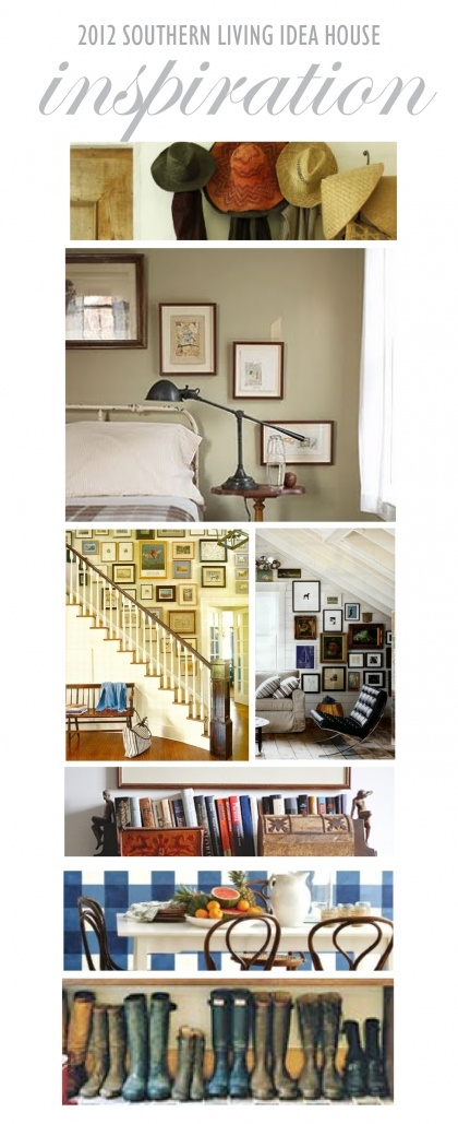 inspiration board - esp. like the picture arrangement on the stairway