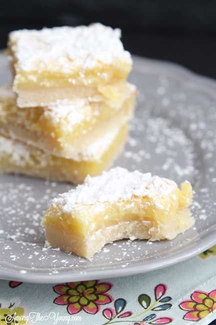 These lemon bars are unlike any other lemon bar out there - shortbread crust, ooey-gooey center, and topped with powdered sugar. Nothing else comes close!