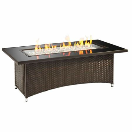 Montego Gas Fire Pit Coffee Table - Brown | WoodlandDirect.com: Outdoor Fireplaces: Fire Pits - Gas, The Outdoor GreatRoom