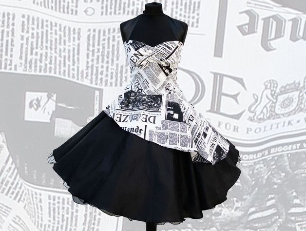 Petticoat Dresses Evening Dress 50s Newspaper …