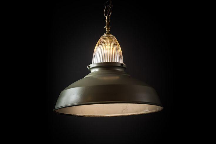 Vintage Thorn and Holophane Glass Pendant — Felix Lighting Specialists   Vintage Industrial Lighting