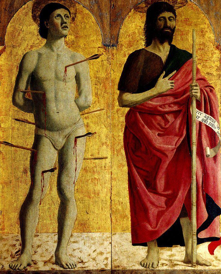St. Sebastian and St. John the Baptist (Polittico della Misericordia) Piero Della Francesca