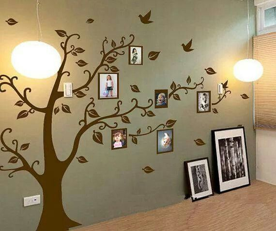 Creative family tree ideas for the home pinterest for Family tree picture wall ideas