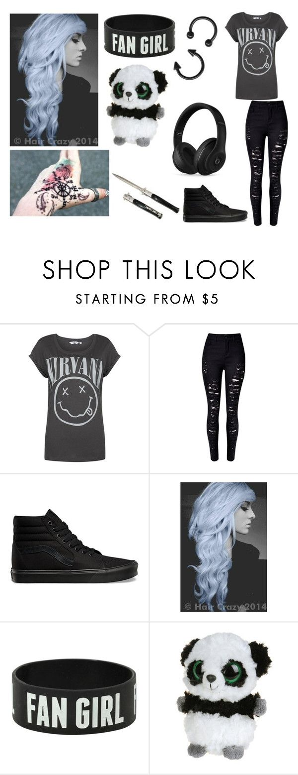 """Untitled #132"" by nightstalker ❤ liked on Polyvore featuring Vans, Handle, Panda and Beats by Dr. Dre"