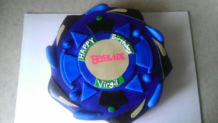 Beyblade cake I made