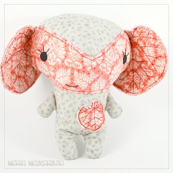 Pretty Amor  stuffed toy for children grey and by MariaMascarilha