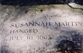 Salem Witch Trials.. Susannah North Martin was hanged at the age of 71.