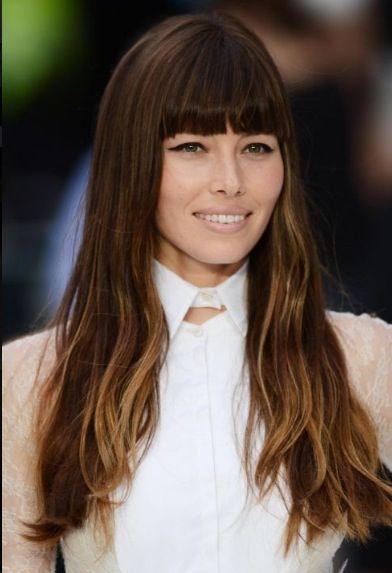 Straight Bangs Long Hair Beauty Pinterest Hair Hair Styles
