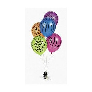 Neon Animal Print Balloons (50pcs)