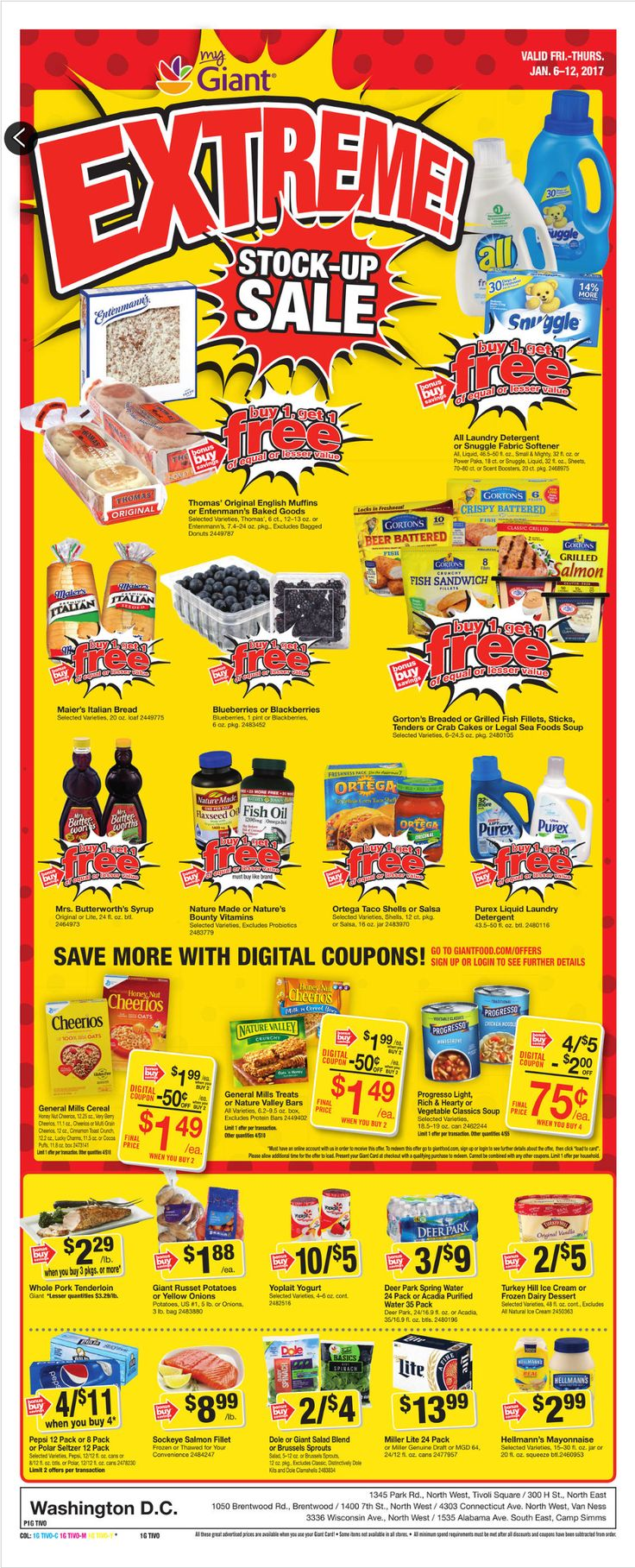 Giant Food Weekly Ad January 6 - 12, 2017 - http://www.olcatalog.com/grocery/giant-food-weekly-ad.html