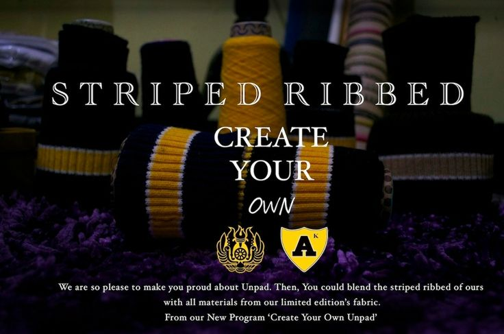New Striped Ribbed from our New Program 'Create Your Own Unpad'