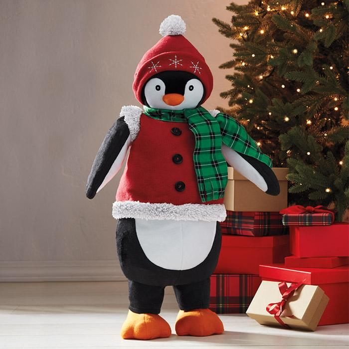Piper the Penguin Greeter in 2018 Avon Home Greet The Season