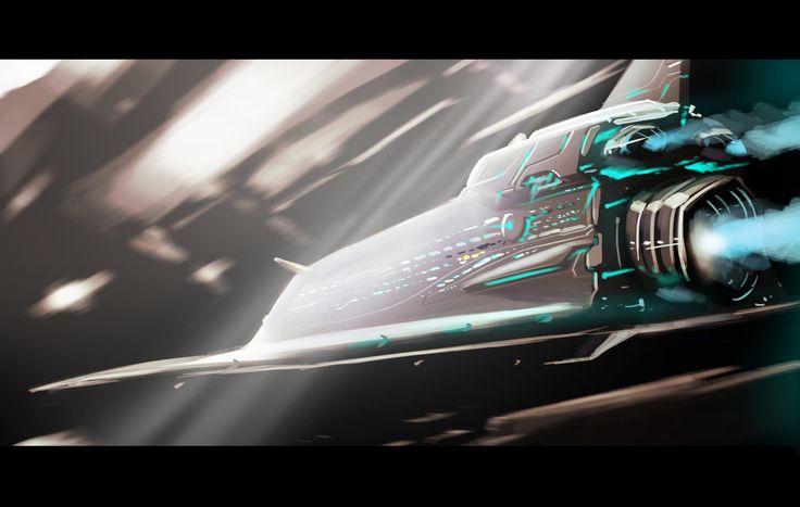 interstellar, Ashith Mohan on ArtStation at https://www.artstation.com/artwork/G2EmV