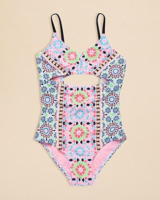 Gossip Girl Girls' Star Crossed Swimsuit - Sizes 7-16 | Bloomingdale's
