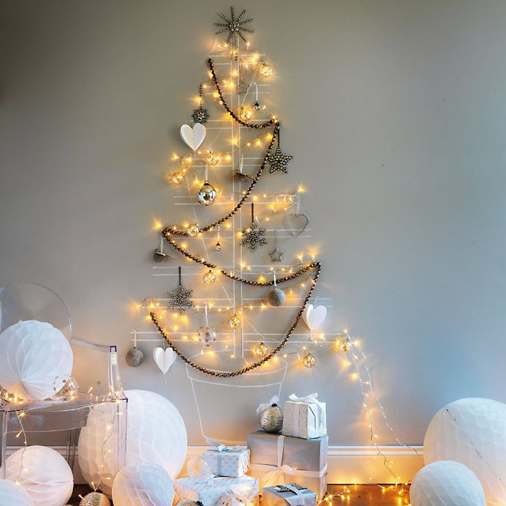 36 Awesome Wall Christmas Trees Ideas, vol. 1