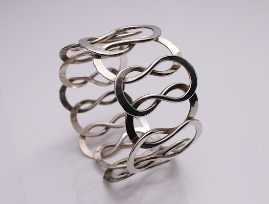 Designed by Anna Greta Eker for Plus Workshop Norway c.1970 Sterling Silver handmade weight 66 grams