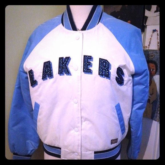 Brand New No Tags LAKERS Jacket Brand New, NO Tags, No Stains! Super cute Rhinestones on words: Lakers. Snap buttons, No zipper, Has pockets. Official NBA gear. REASONABLE offers through Offer button Please✌️ NBA Hardwood Classics G-111 & Carl Banks  Jackets & Coats