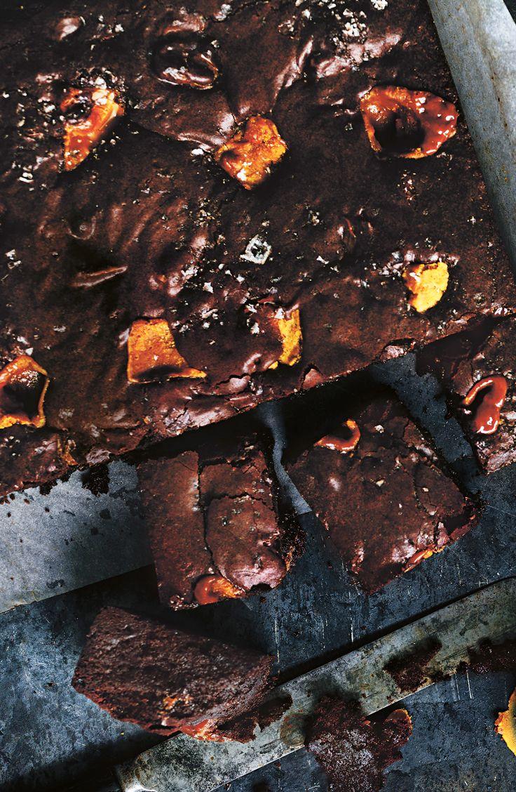 Brownies au caramel salé
