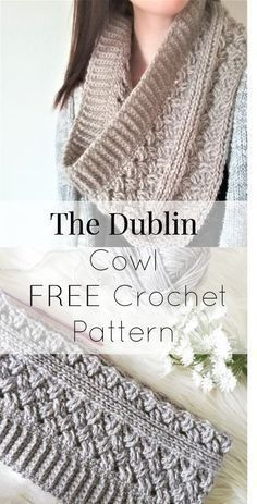 FREE beautiful crochet cowl/infinity scarf PATTERN using the Celtic Weave (or al…