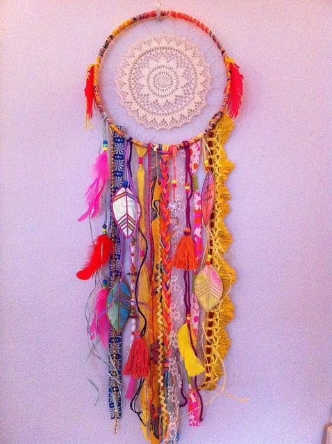 #neon #dreamcatcher by rachael rice:    http://rachaelrice.com/art/custom-orders/