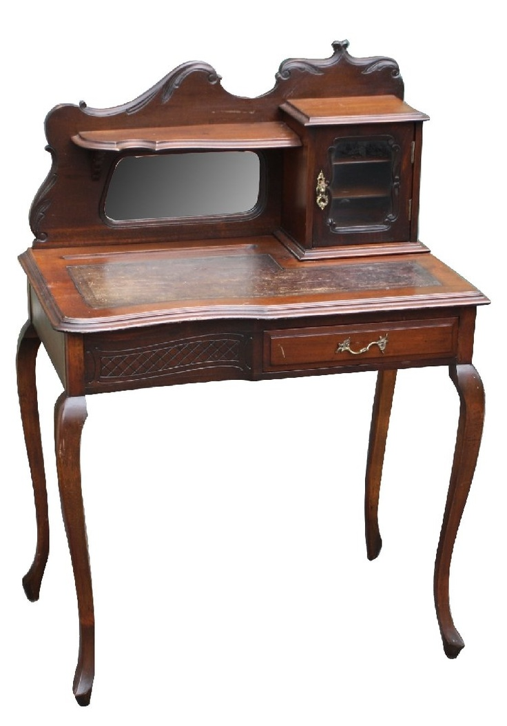 English ladies writing desk in walnut on Queen Anne legs - 139 Best Ladies Writing Desks Images On Pinterest Furniture, At
