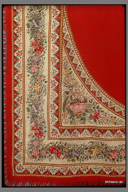 Shawl, Russian, 1830