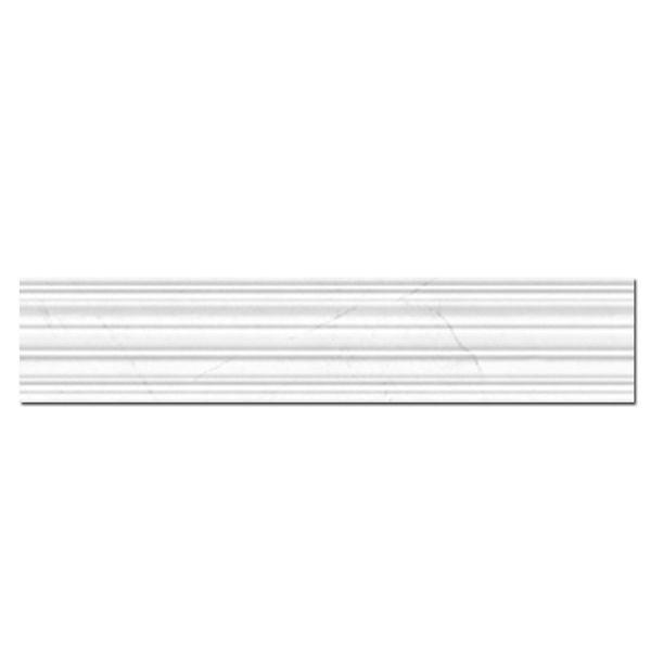 En marmor inspirerade kakeldekor lister, Roma Masion är en serie fylld av kombinations möjligheter, i serien så finns golvfoder, bröst & dekor lister samt bas platta. Passar både till badrum, toaletter, kök eller hemmets alla rum.