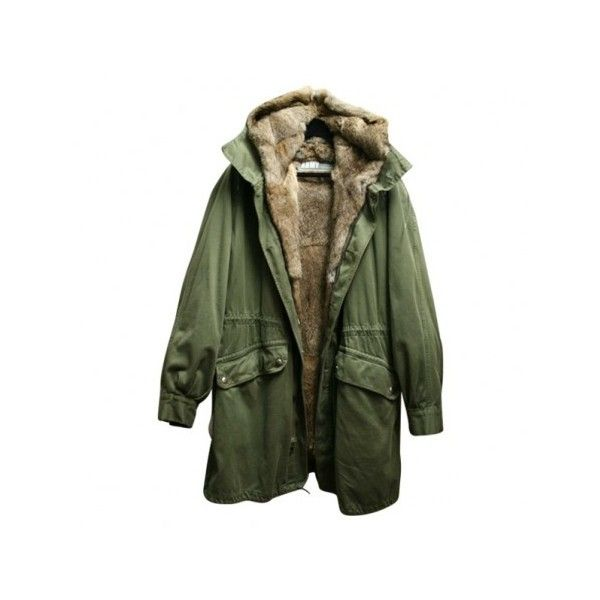 Parka Kaki en Fourrure YVES SALOMON sur VestiaireDeCopines.com ❤ liked on Polyvore featuring outerwear, coats, jackets, tops, yves salomon, green coat, green parka coat, parka coats and green parka
