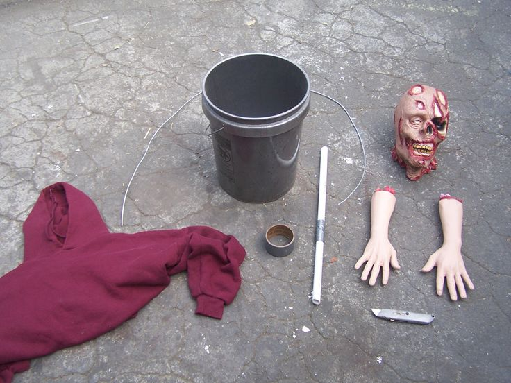 Short on cash but want some scary zombies for your front yard this Halloween? We've put together a handy tutorial on how to make zombies with buckets! Start with this: End up with this: They are pe...