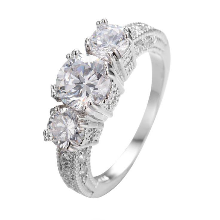 Maat 5/6/7/8/9/10/11/12 vrouwen saffier vinger ring 10kt wit goud gevuld ringen gratis verzending a0311 in  Bekijk meer klik dan op de volgende picrure:                          & van ringen op AliExpress.com | Alibaba Groep