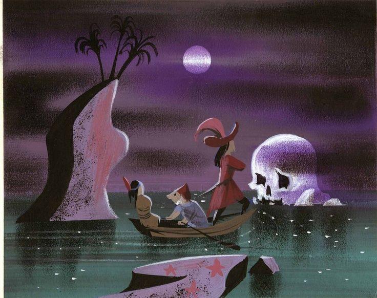 Mary Blair Concept Art | Mary Blair concept art for Peter Pan