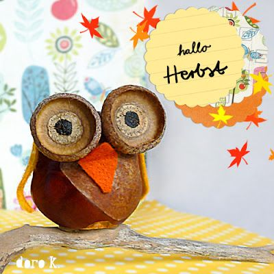 chestnut owl Kastanien basteln Eule