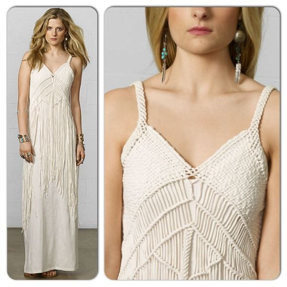 Denim & Supply Dresses & Skirts - Denim & Supply Ralph Lauren Macrame Maxi Dress