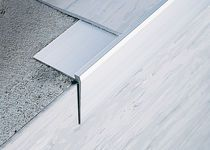with resilient flooring....Aluminium stair nosing