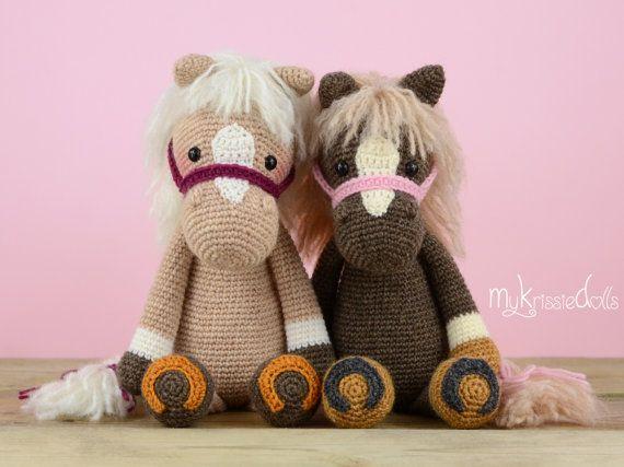 Ganchillo patrón-caballo Piem por MyKrissieDolls en Etsy
