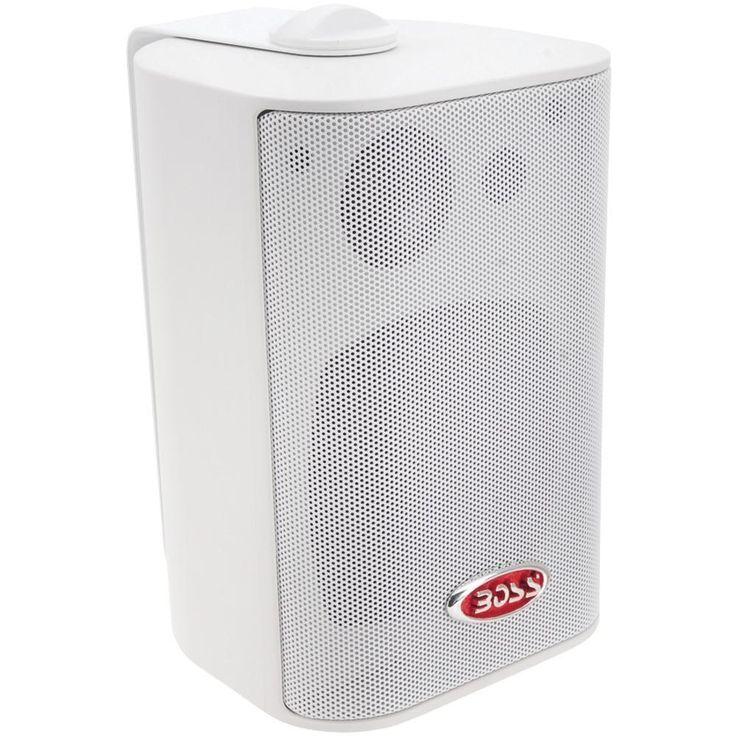BOSS AUDIO MR4.3W 4 Indoor-Outdoor 3-Way Speakers (White)