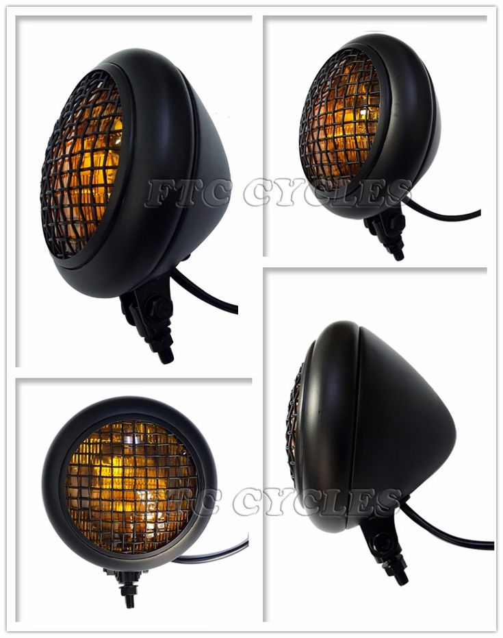 5.75'' Amber Lens Black Mesh Cafe racer Vintage Motorcycle Headlight, View Vintage Motorcycle Headlight, FTC Cycles Product Details from Changzhou Fantastic Vehicle Industry Ltd., Co. on Alibaba.com