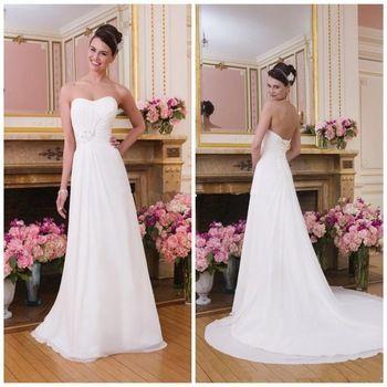 Custom Made Vintage Wedding Dress Vestidos De Novia Chiffon Sexy Backless Beach Wedding Dresses Plus Size Dresses For Bride 2015