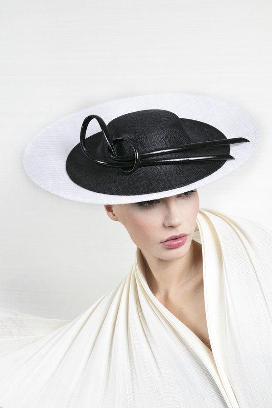 Philip Treacy London | Oval Plate | Black and Wide Brim Hats | LOVEHATS.COM