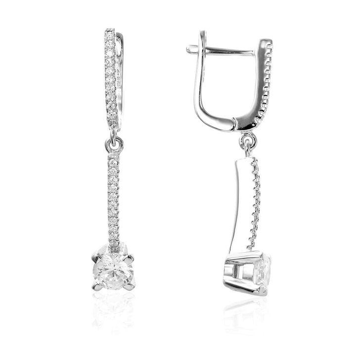 Cercei argint Latch Back Drop Earrings Zirconii Cod TRSE003 Check more at https://www.corelle.ro/produse/bijuterii/cercei-argint/cercei-argint-latch-back-drop-earrings-zirconii-cod-trse003/