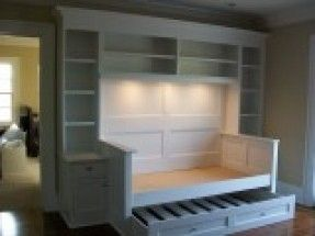 built in daybed with trundle drawer (grandkids' room - if we truly go for the 900sf house)