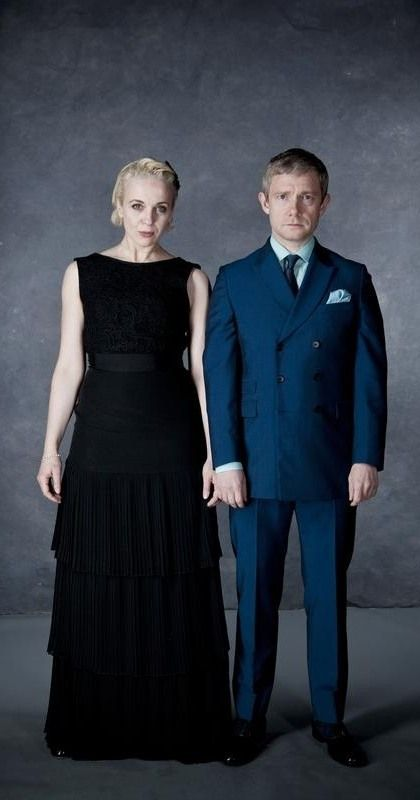 Amanda Abbington and Martin Freeman I'm sorry that I can't scroll past a picture of them without pinning it.