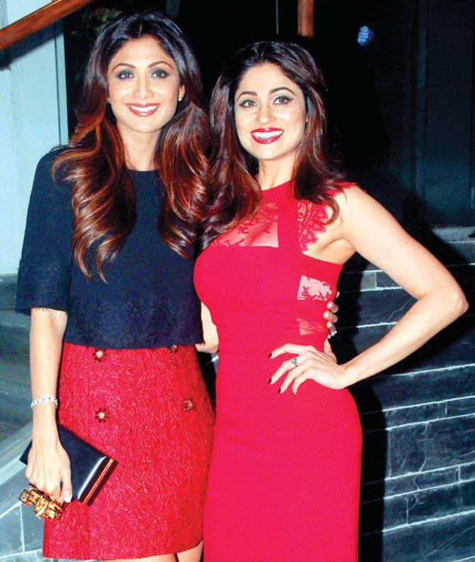 Shamita Shetty and Shilpa Shetty during her birthday celebrations. #Bollywood #Fashion #Style #Beauty #Hot #Sexy